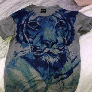 men's zara graphic t shirt